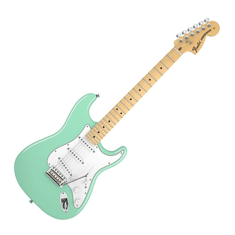 fender american special stratocaster with maple fingerboard surf green with gig bag guitar. Black Bedroom Furniture Sets. Home Design Ideas