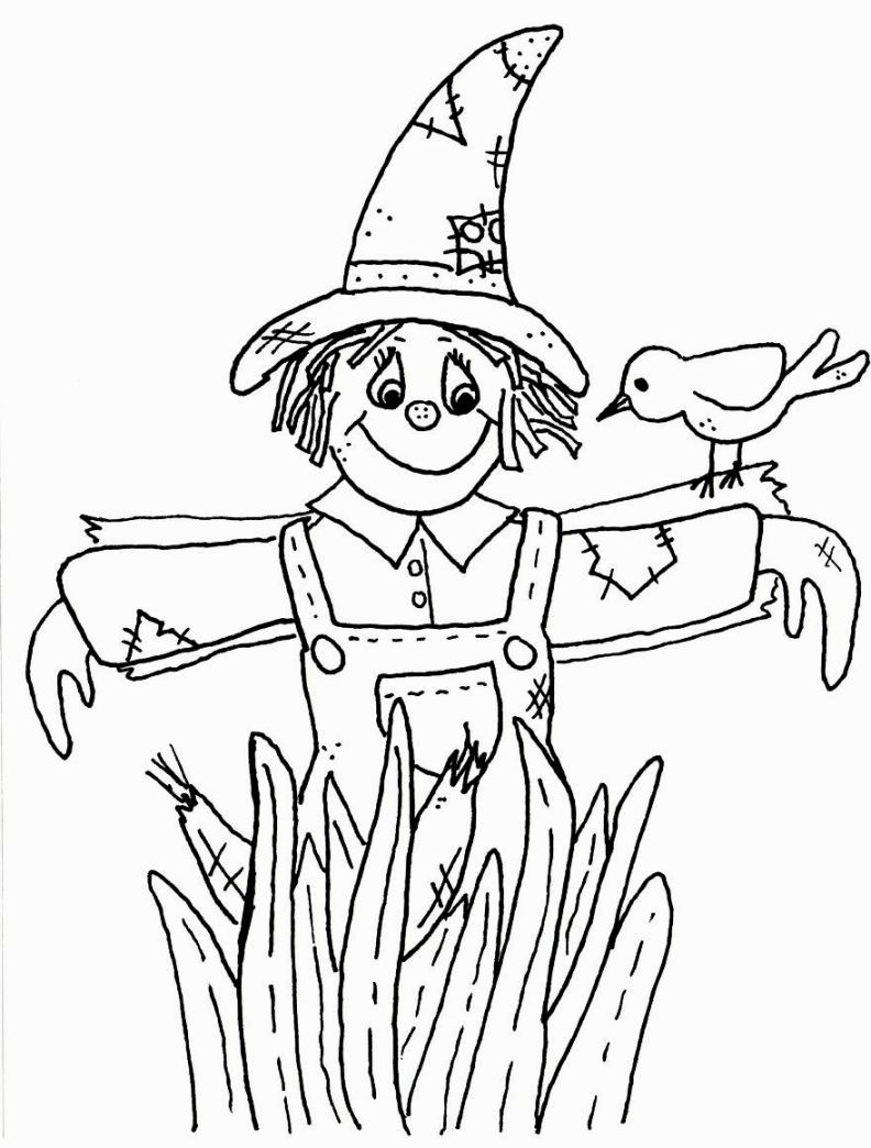 Scarecrow Coloring Coloring Pages Cool Coloring Pages