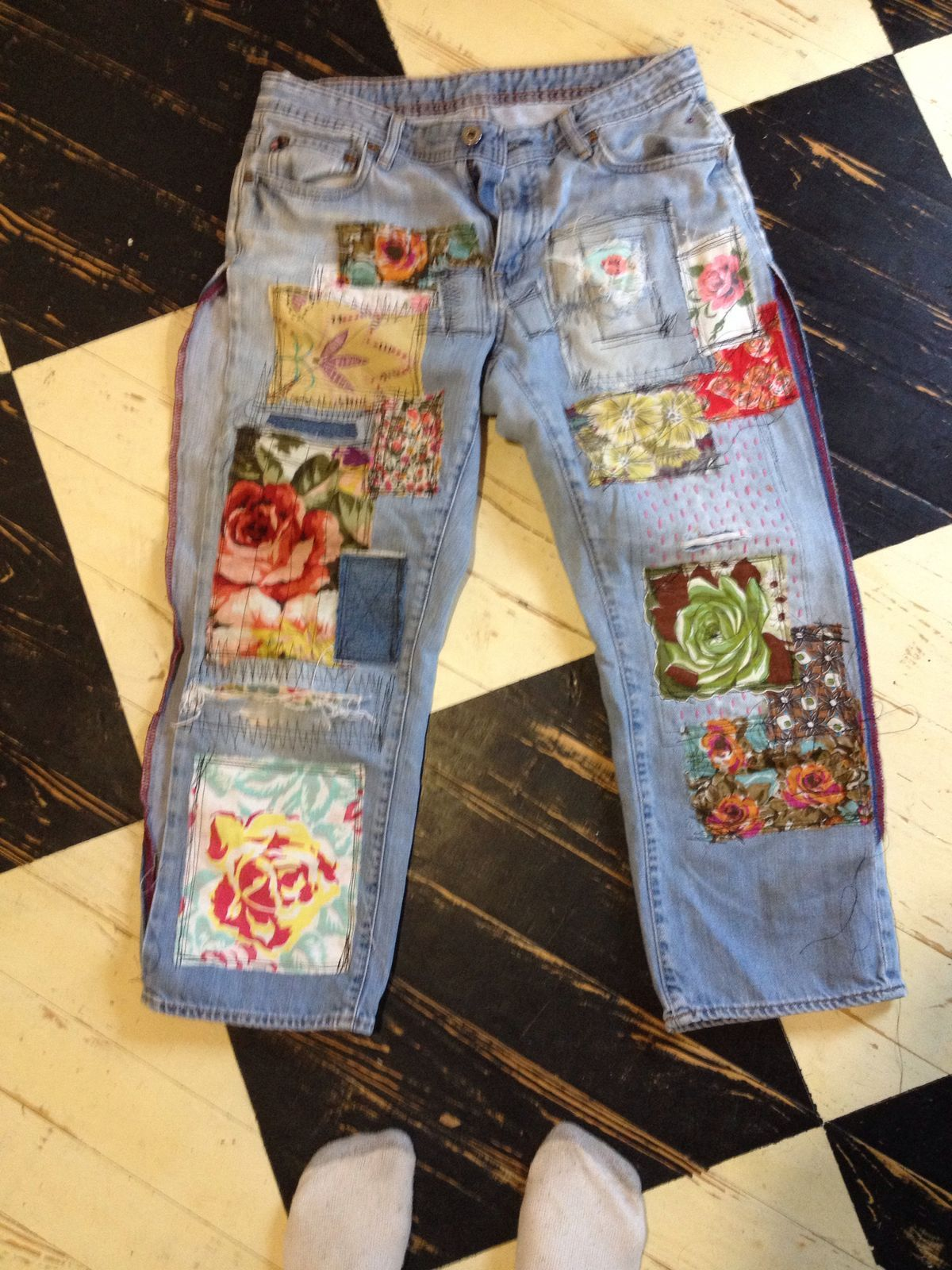 Nice jeans dress up geekery pinterest jeans v tement recycl et recyclage - Idees recyclage vetements ...