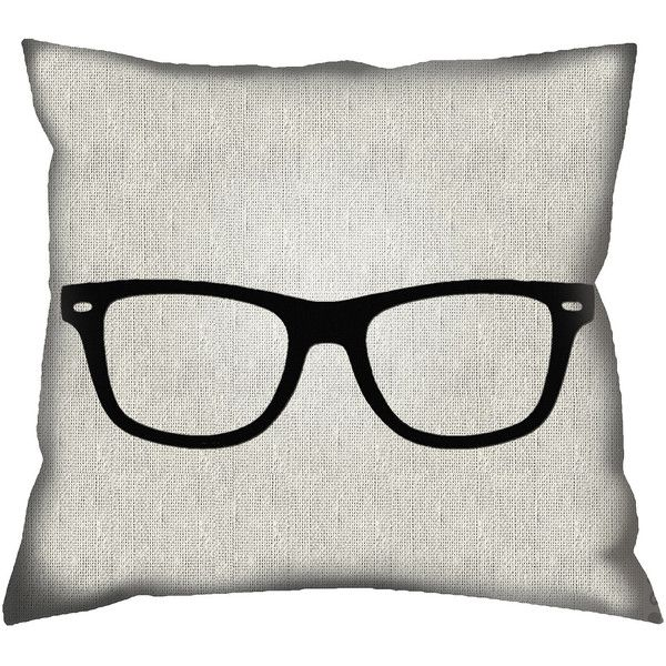Geek Glasses Decorative Pillow found on Polyvore