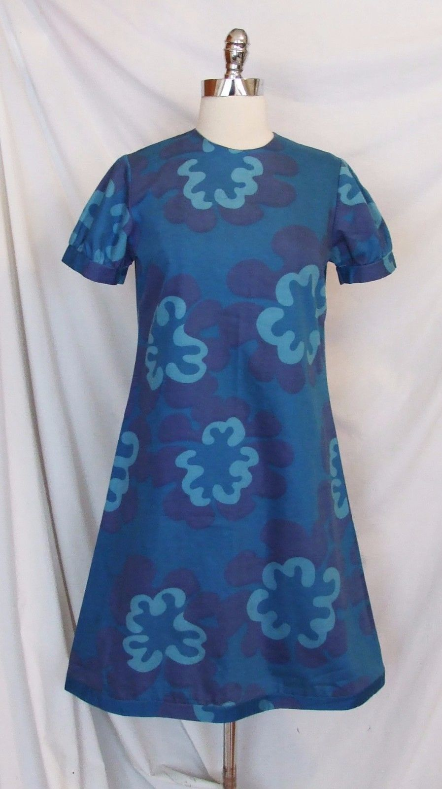 Vintage 60s Mod Cotton Marimekko Era Lord Taylor Made In Finland Dress Curatorial