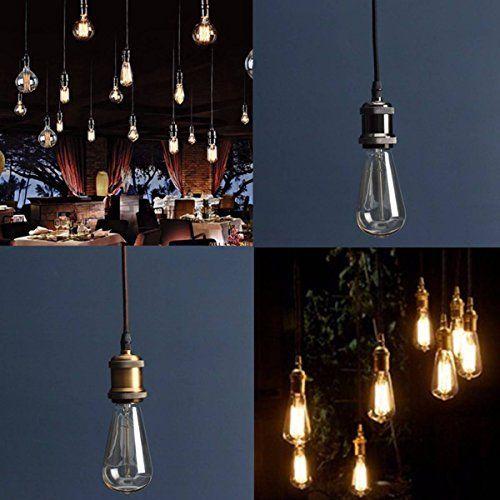 KINGSO E27 Lampenfassung Kupfer Vintage Retro Antike Edison ...