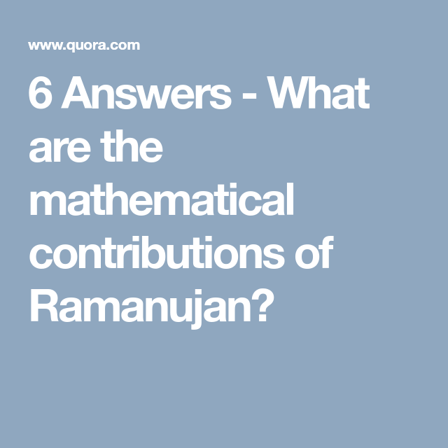 CONTRIBUTIONS OF RAMANUJAN EBOOK