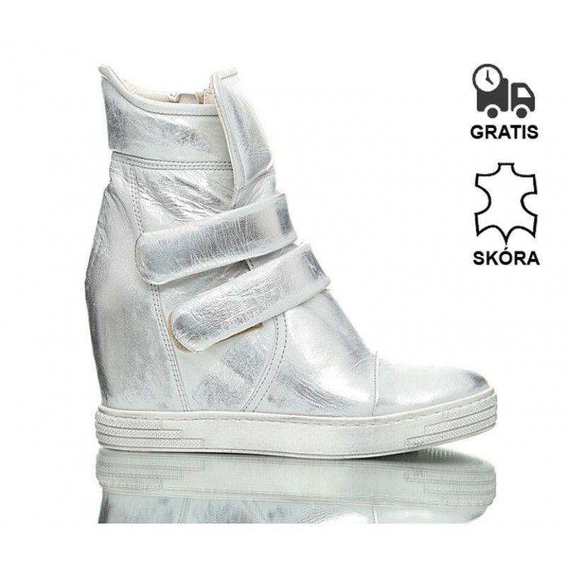 Sneakersy Srebrne Stellar Wedge Sneaker Shoes Sneakers