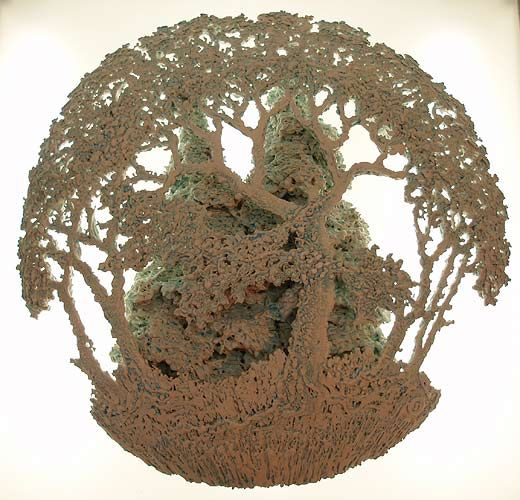 Ceramics by Barry Guppy (1937-2013) at Studiopottery.co.uk - 2011. Tree Relief