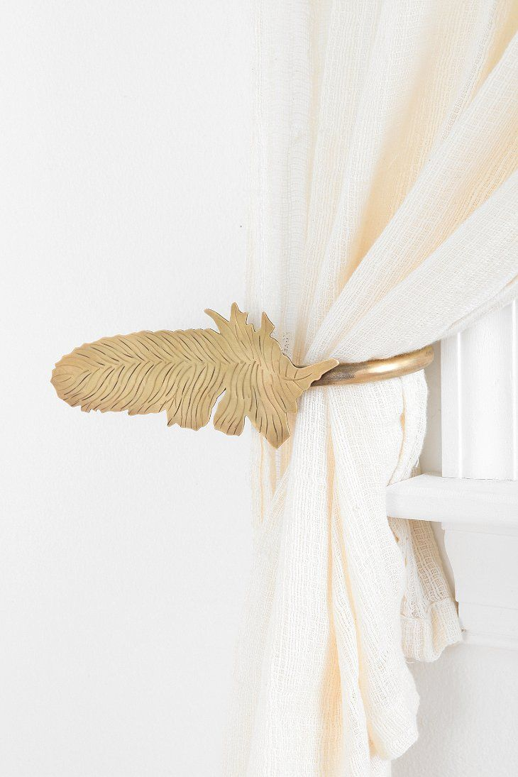 Magical Thinking Feather Curtain Tie Back Curtain Tie Backs