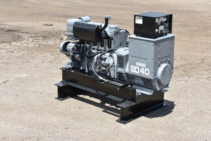 For Sale Deutz 40 Kw Diesel Generator Set Unit 87571 Model Sd40 Year 1997 208 Volt 3 Phase 12 Lead Rec Alternator Diesel Generators Natural Gas Generator