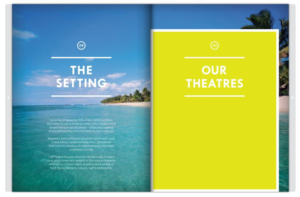 Lux Resorts Brochure layout