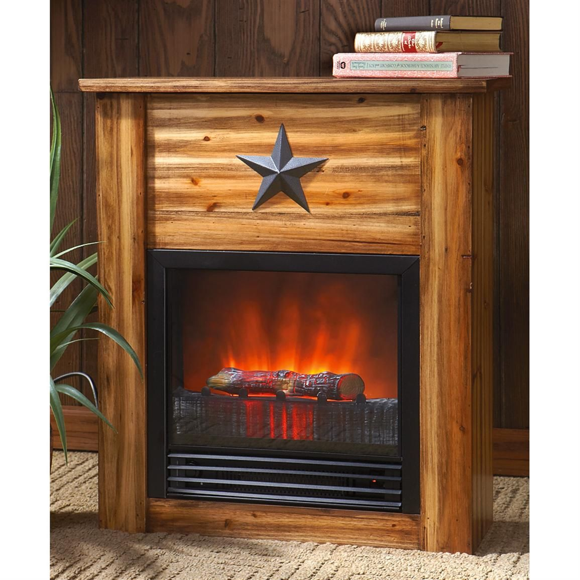 Pin by Sportsmans Guide on Cabin  Home Decor  Electric fireplace Fireplace design Cabin homes