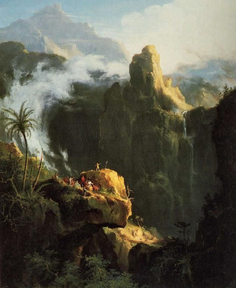 Landscape Composition - Saint John in the Wilderness. 1827. Oil on canvas.