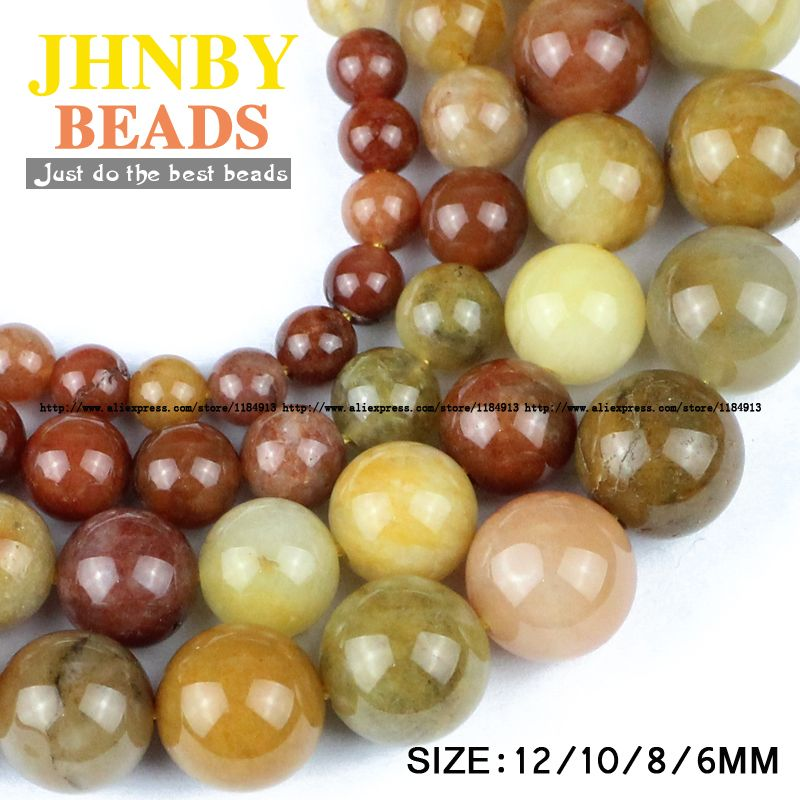 Aliexpress.com: Buy JHNBY Gold Natural Stone Color IMPERIAL LIGHTER Grains Loose Round Stone High Quality 6/8/10/12 MM Bracelet DIY Jewelry Making Bracelet Making reliable suppliers at JHNBY (Johan's Beads) Store