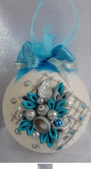 Bombka Sznurkowa Allegro Christmas Ornaments Fabric Ornaments White Christmas Ornaments