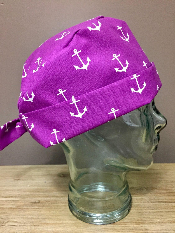 c51d164eca2 Purple Anchor Surgical Scrub Hat