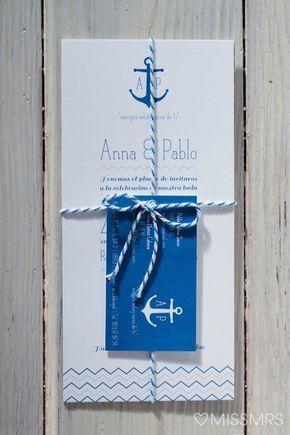MissMrs, mucho más que una boda: La boda de Anna + Pablo: Las invitaciones: