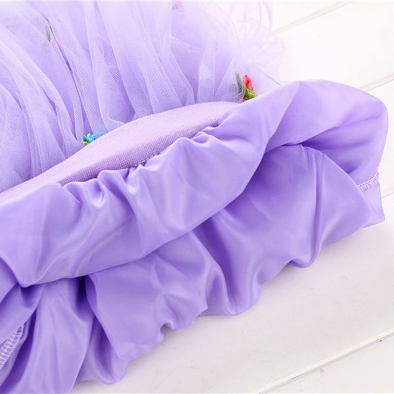 New Kids Girls Tutu Skirt Flower Party Ball Gown Princess Lace Children Mini Skirt 1-4Y X16 - Kid Shop Global - Kids & Baby Shop Online - baby & kids clothing, toys for baby & kid