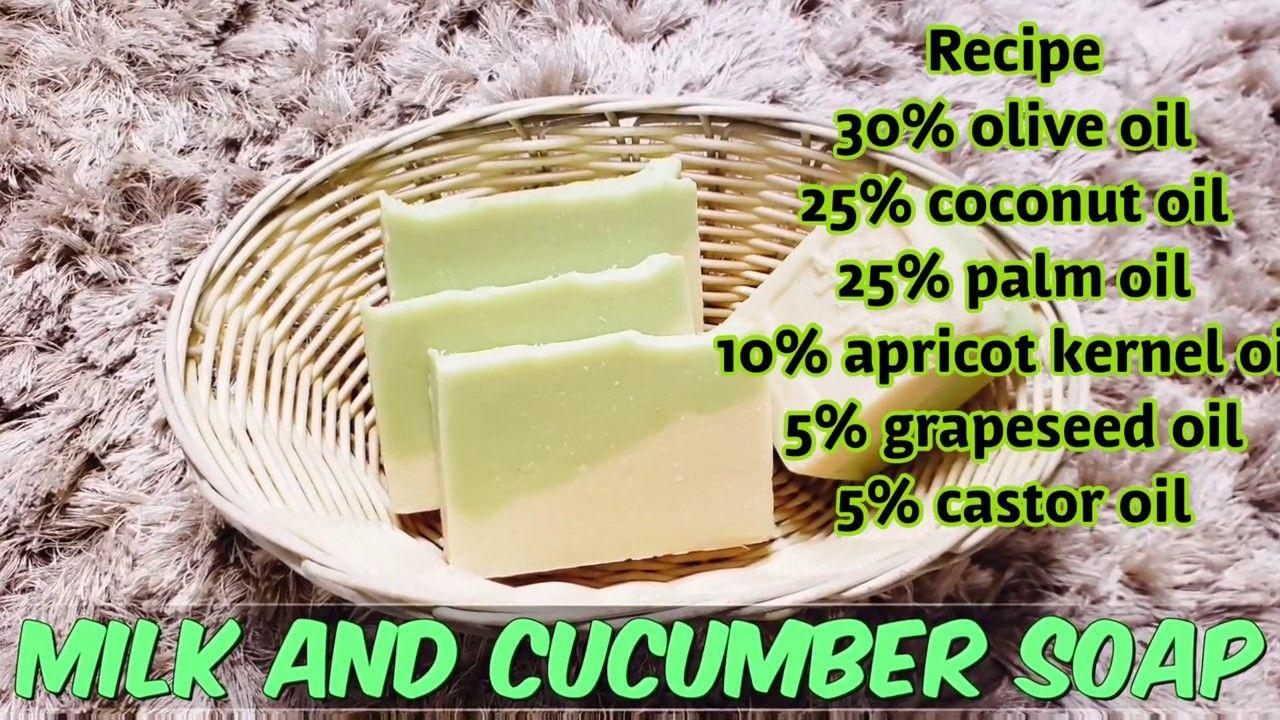 How to make milk and cucumber soap cucumber soap recipe
