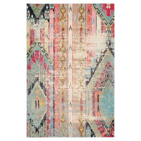 Blair Area Rug Light Blue Multi 6 7 X 9 2 Safavieh