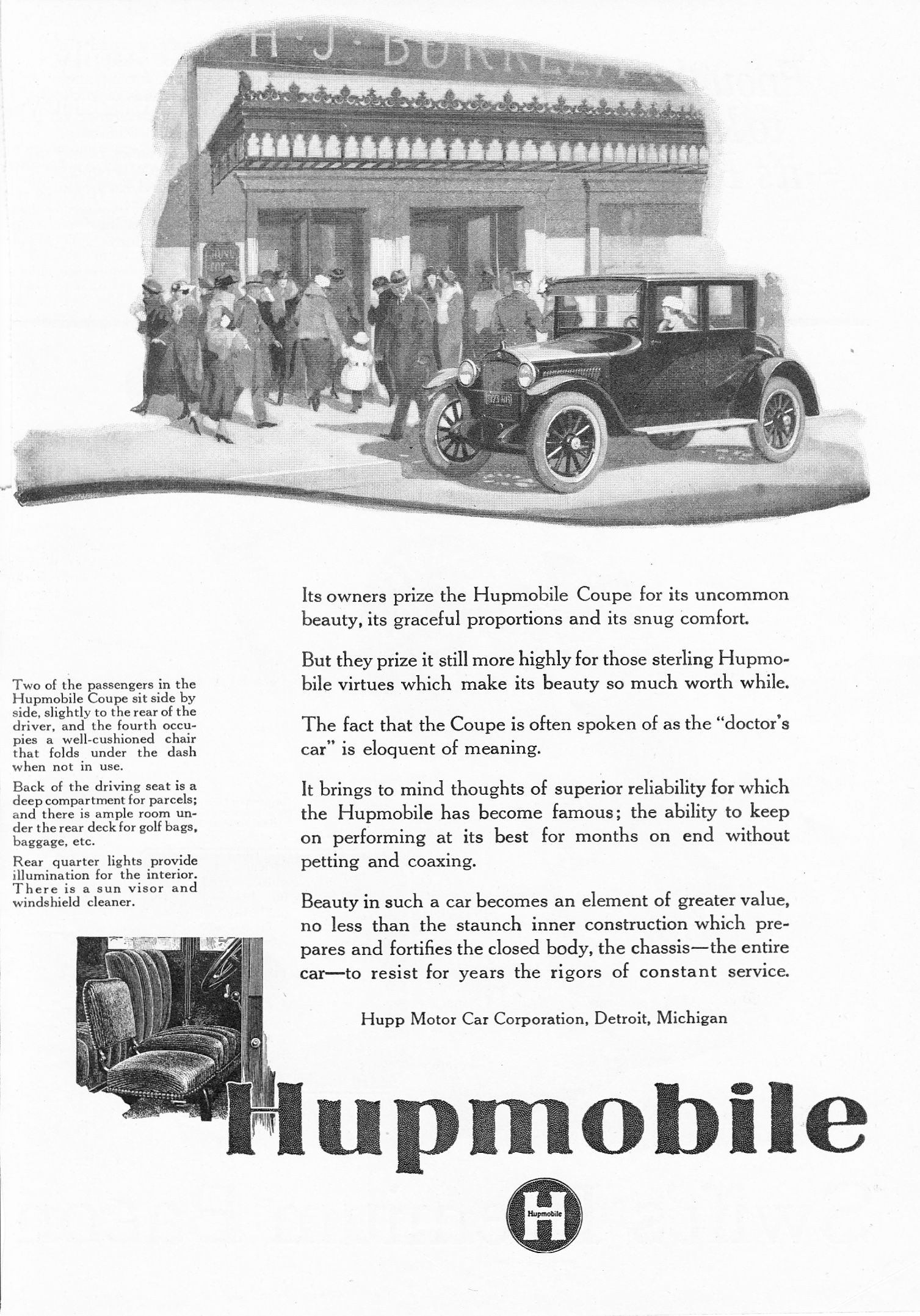 1923 Hupmobile Hupp Motor Car Corporation Autos 1920s