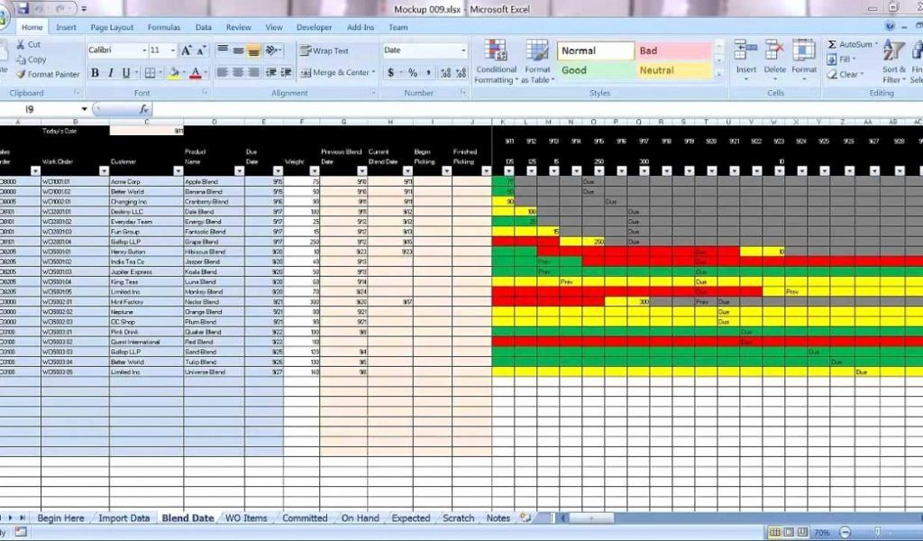 Production Schedule Template Excel Luxury Excel Graphical