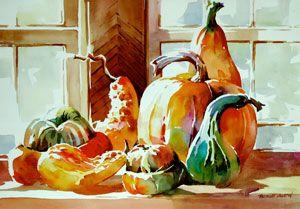 By Bridget Austin Watercolor Fruits Vegetables Aquarelle