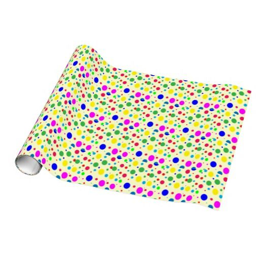 Party Colors Wedding Gift Wrap
