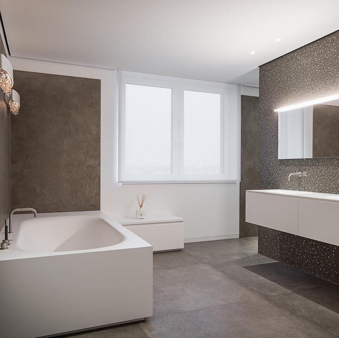 Badezimmerdesign Interiorhome Designdetails Feinsteinzeugboden Mosaik Ceramica Bathroomdecor Interiordesign Privatevil Bathtub Alcove Bathtub Bathroom