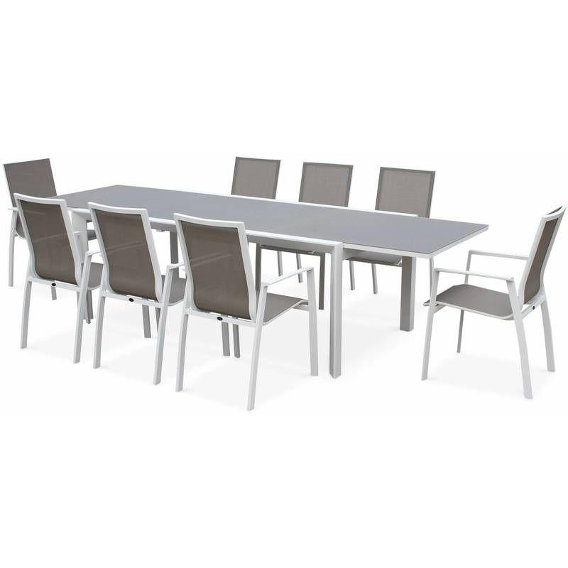 Salon de jardin in 2019   Aluminum table, Table, Garden