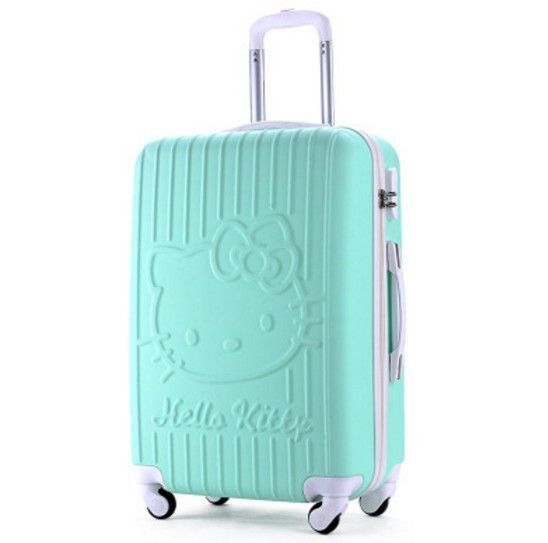 """Travel tale 20""""24 inch hello kitty luggage spinner girls travel suitcase trolley bag abs"""