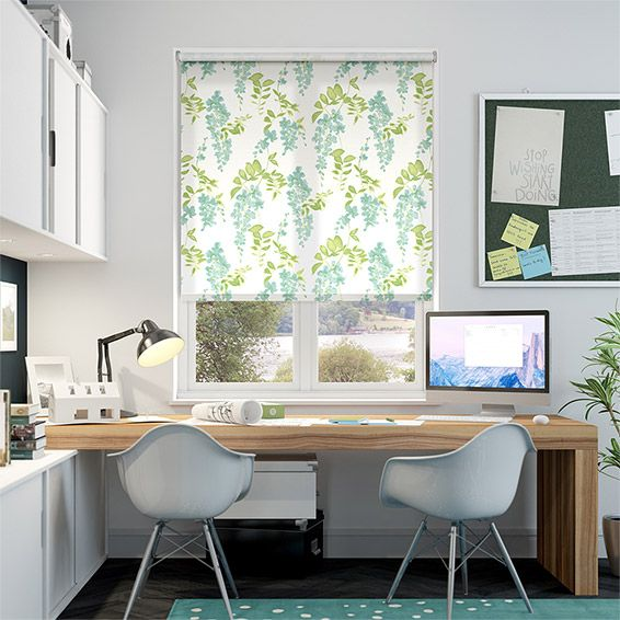 Look at all those dainty little Wisteria Blossoms, don't they paint a pretty little picture. This is more than just a roller blind to keep out light, it's a work of art too!