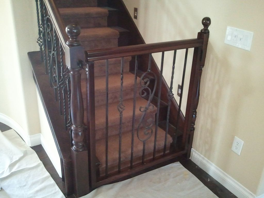 Custom Baby Gate In 2020 Dog Gates For Stairs Stair
