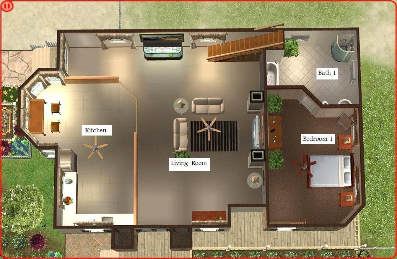 Mod The Sims Beach House Plan House Blueprints House Layouts Sims 2 House