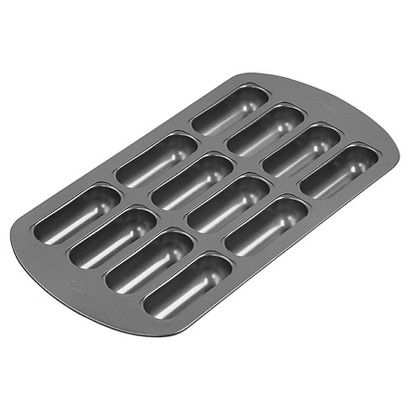 Wilton 12 Hole Non-stick Brownie Tin Bar Pan Cavity Nonstick Mini Cake Snacks