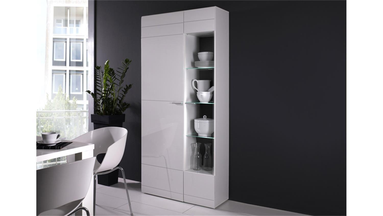 wohnzimmer vitrinenschrank weiß  Tall cabinet storage, Small