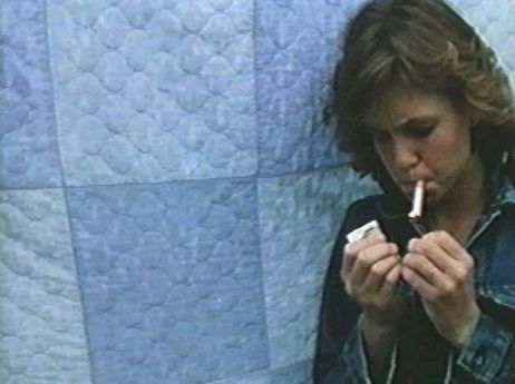 Kristy McNichol smoking a cigarette (or weed)