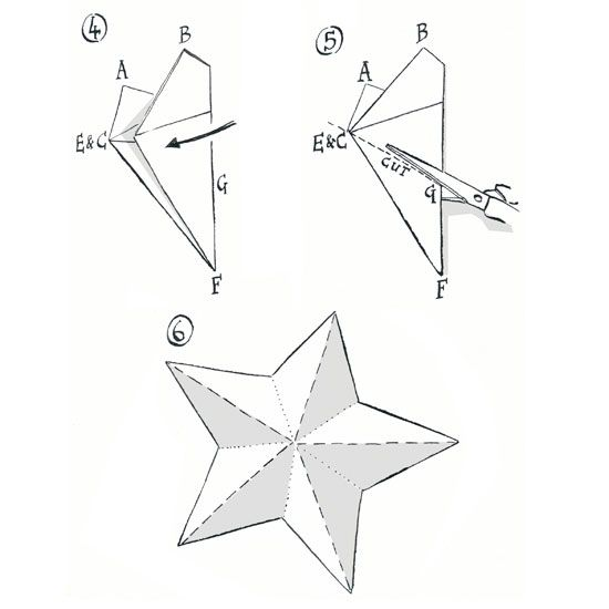 How to make a paper star paper stars 3d and craft for How to make 3d paper stars easy