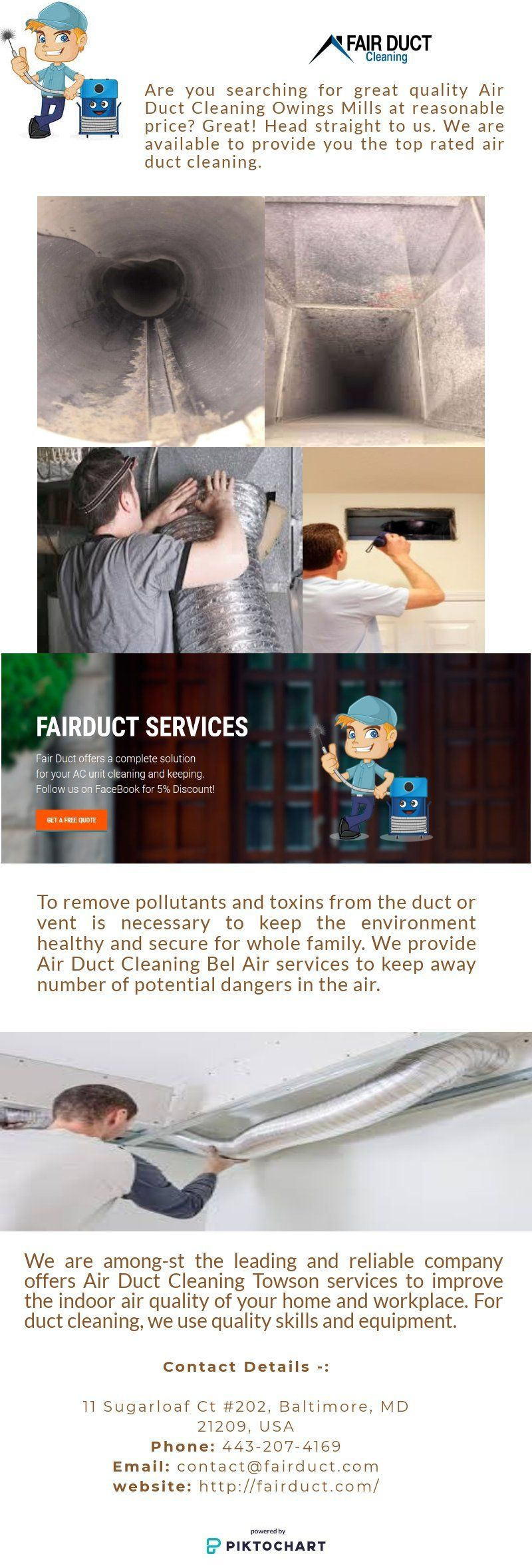 Fair Duct provides Air Duct Cleaning Services Silver