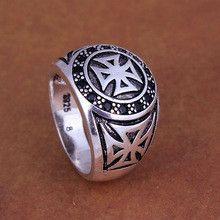 Luxury cross anti-silver ring for women wedding party silver black zircon stone cz diamond gift fashion jewelry wholesale