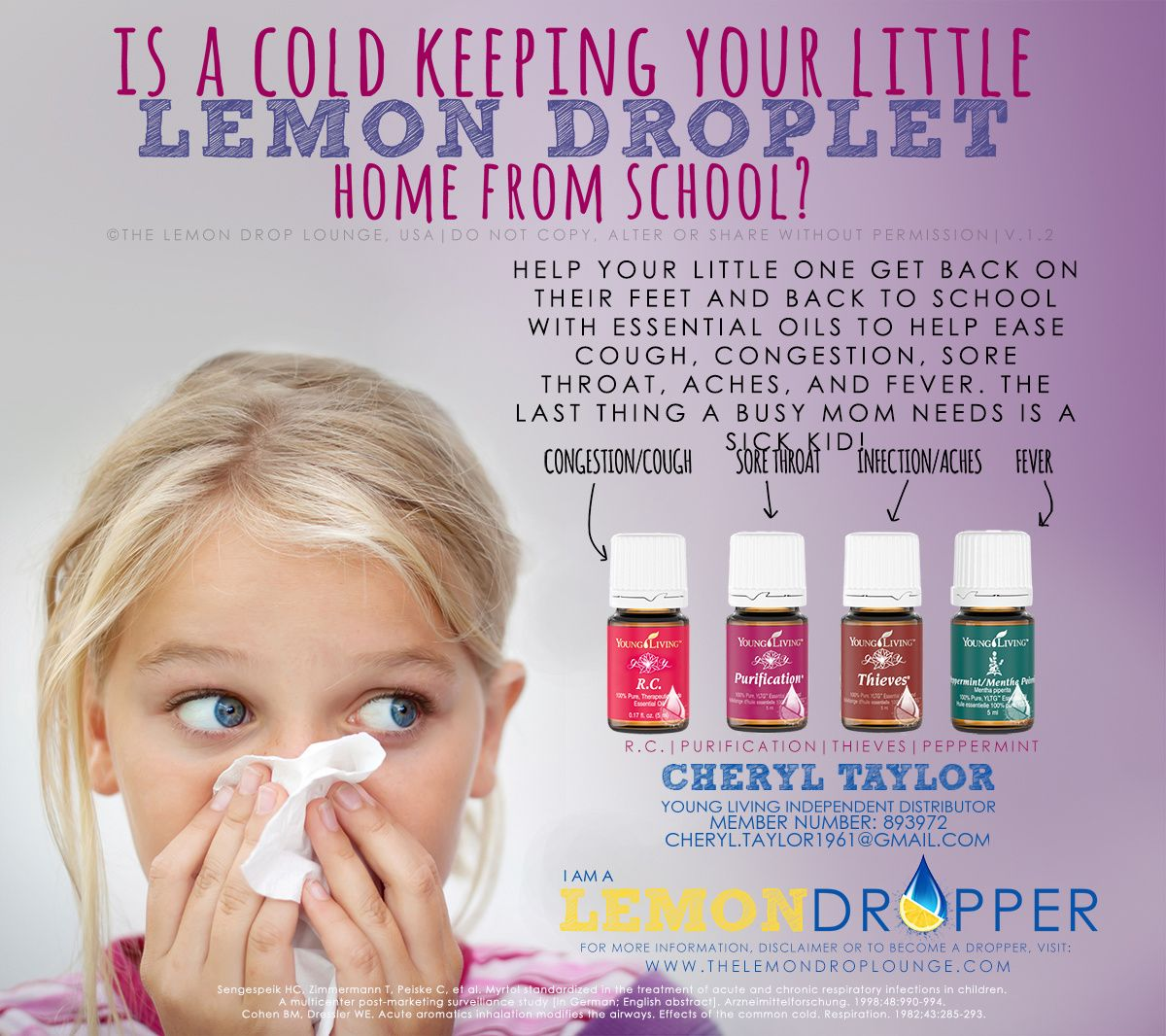 Essential Oil Cold Remedy For Kids Young Living