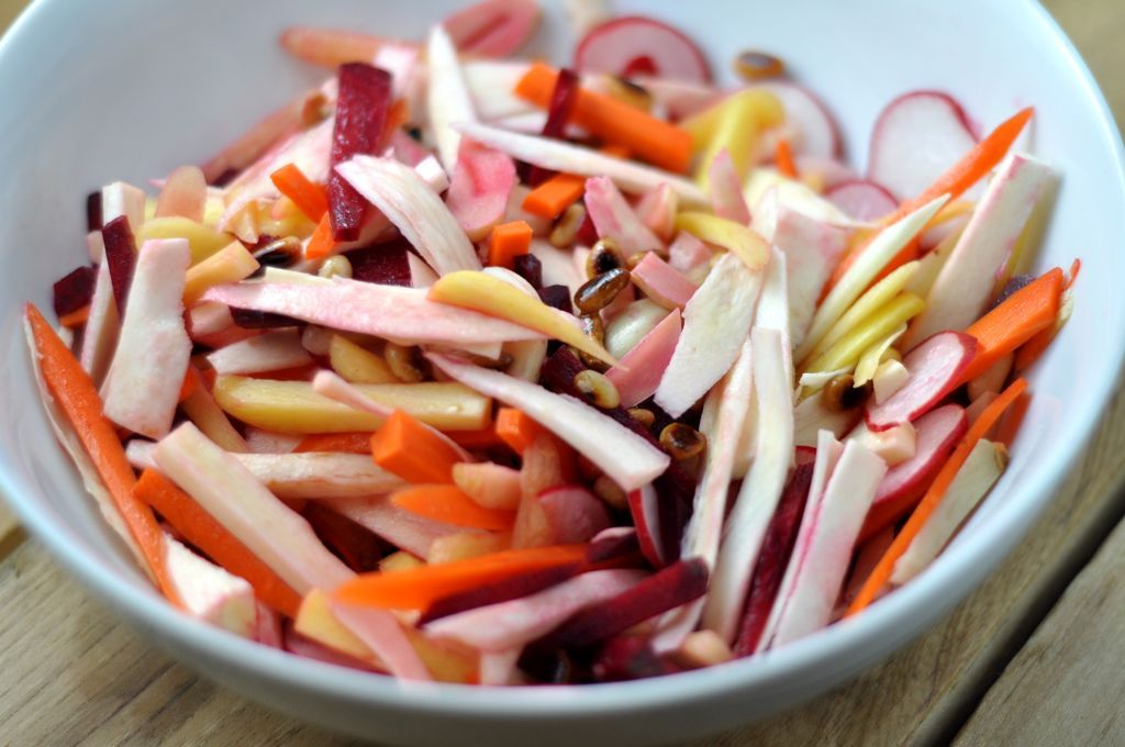 Root Vegetable Salad With Pickled Garlic