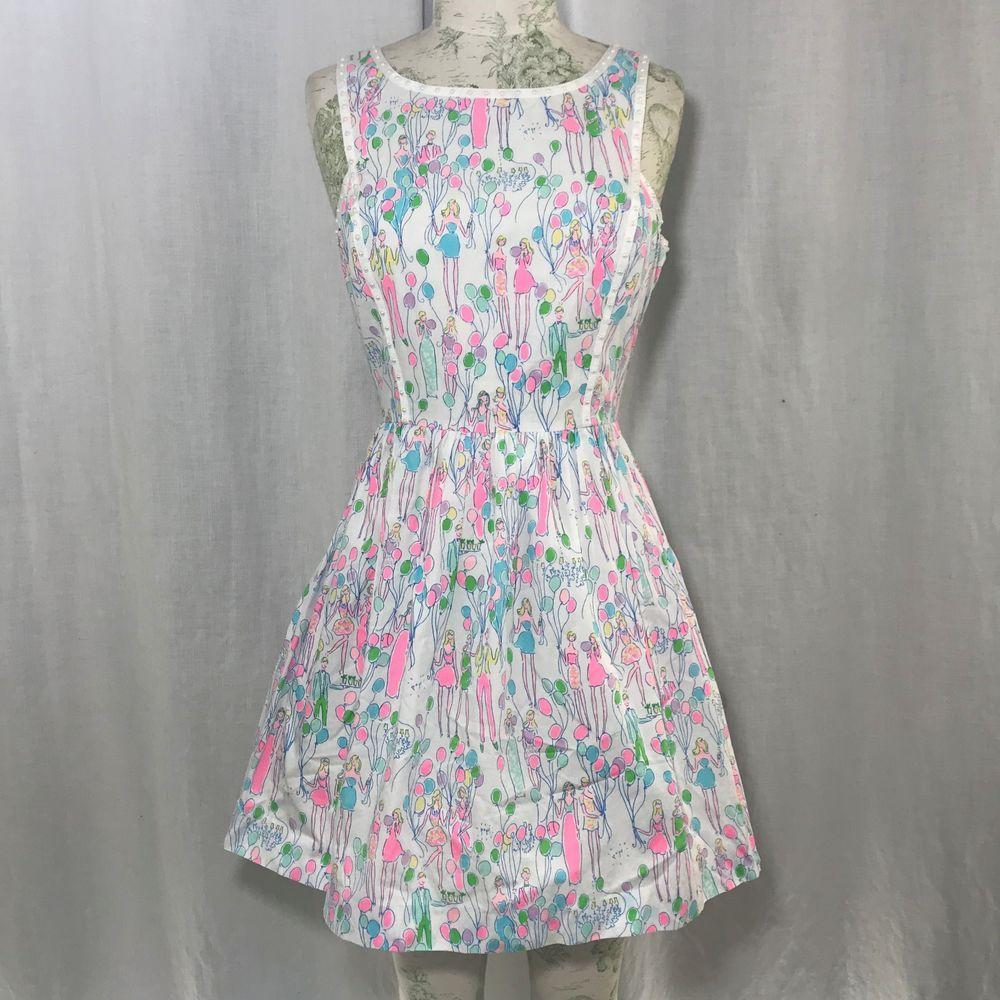 7708e6de65e3 NWOT Lilly Pulitzer POP Sandrine Cotton Sun Dress Sz 2 Resort White HOLY  GRAIL #LillyPulitzer #FullCircleSkirtDress