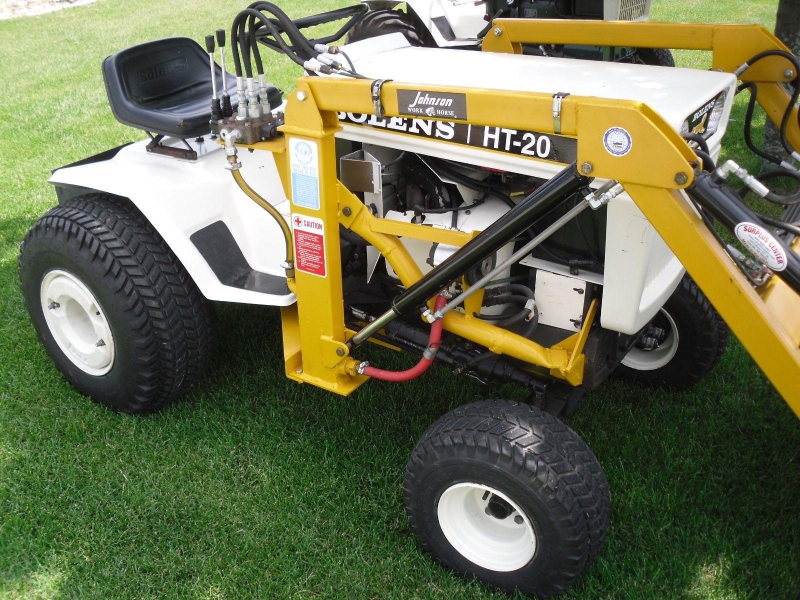 Bolens Ht 20 Garden Tractor With Loader Ebay Garden Tractors
