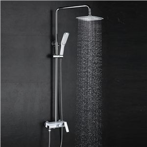 European Modern Copper Shower Sets Hot And Cold Shower Faucet