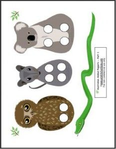 Australian Animal Puppet Play Animal Crafts Preschool