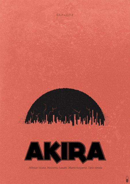 Akira 1988 Minimalist Poster Akira Minimalist Poster Minimal Poster
