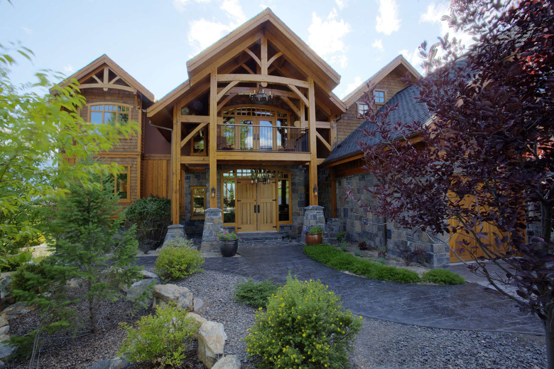 Timber Frame Entry - Invermere Bc. Home Design