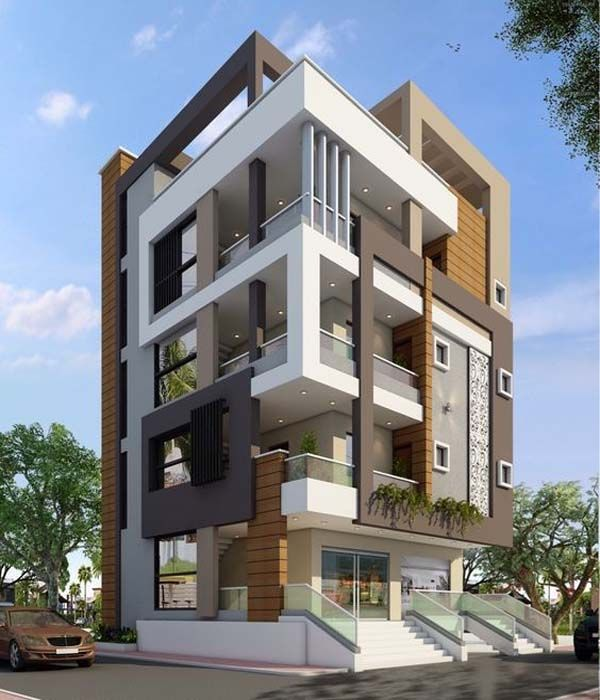 Apartment Exterior: Marvelous Modern Facade Apartment Decor Ideas