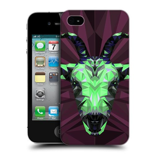 HEAD-CASE-GEOMETRIC-ANIMALS-SERIES-2-HARD-BACK-CASE-FOR-APPLE-iPHONE-4-4S