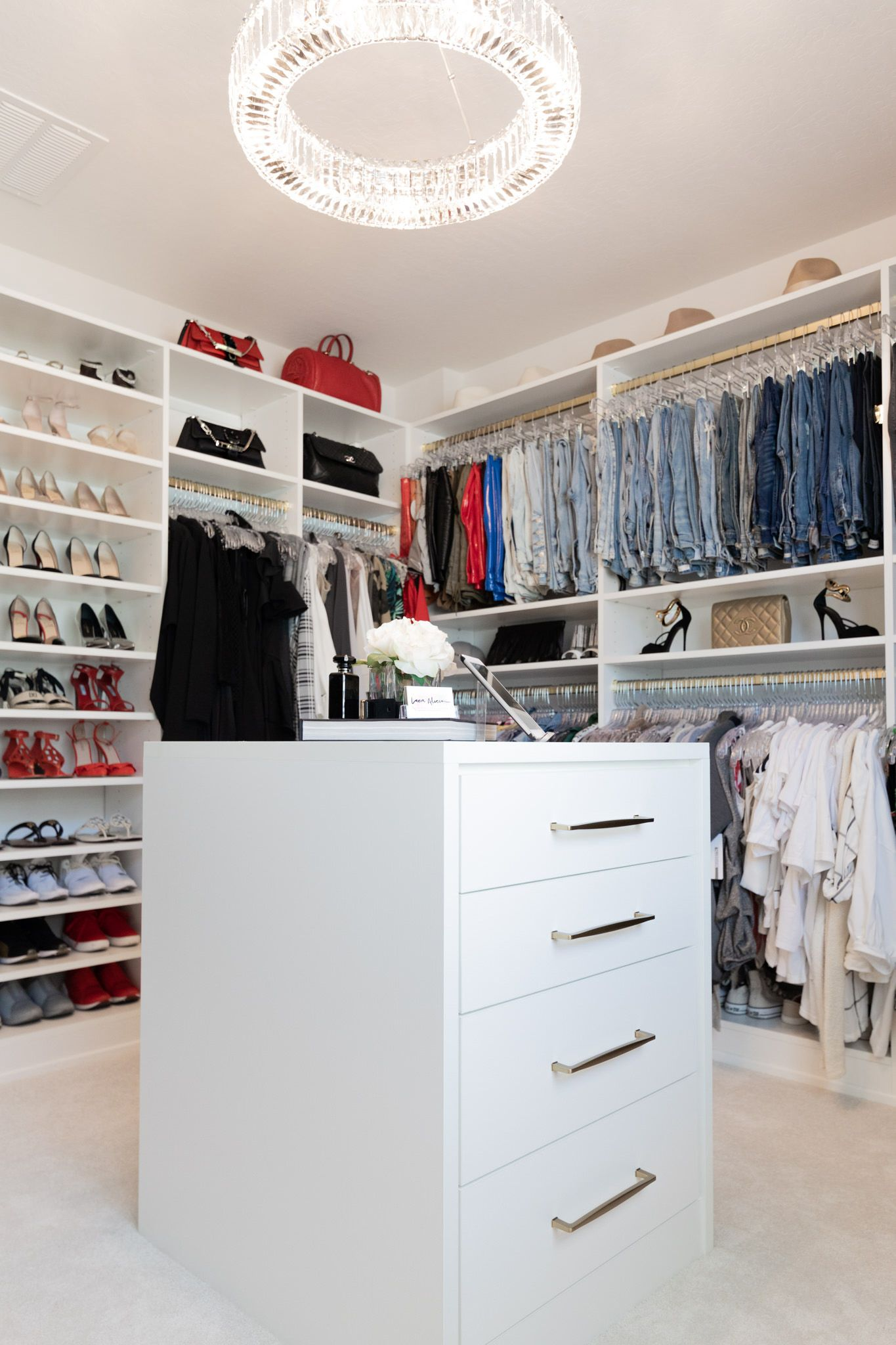 The Fashion Forward Designer Closet My Collaboration With California Closets In 2020 Closet Designs Walkin Closets Design California Closets