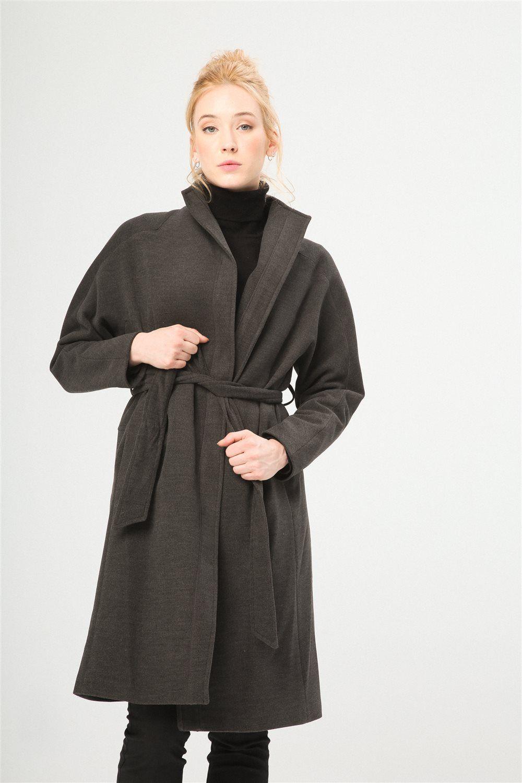 Con Moda 2 Cinturón 11408 De Gris Abrigo 0 Mujer Fontana 02 vtHg1Sq