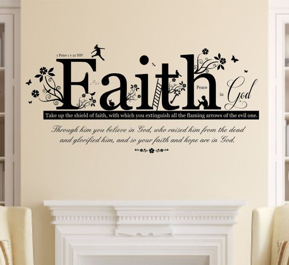 1 Peter 1 V 21 Christian Bible Quote Vinyl Wall Art Sticker Etsy Vinyl Wall Art Christian Bible Quotes Sticker Wall Art